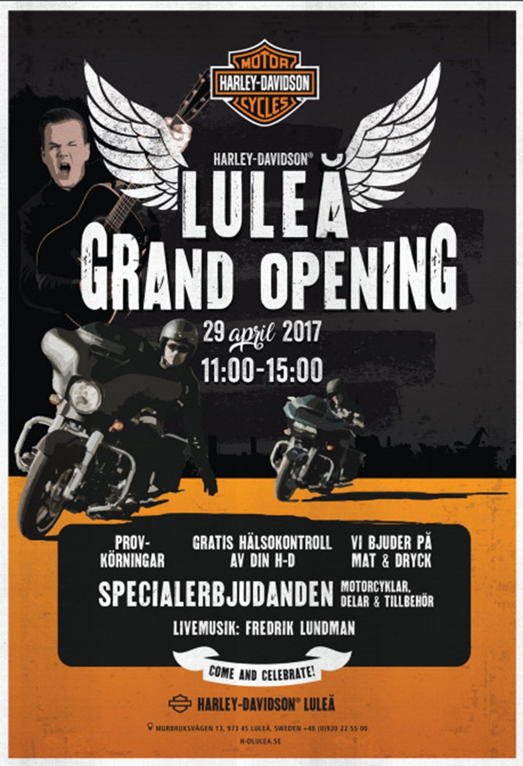 Harley Davidson Luleå Grand Opening 29 april