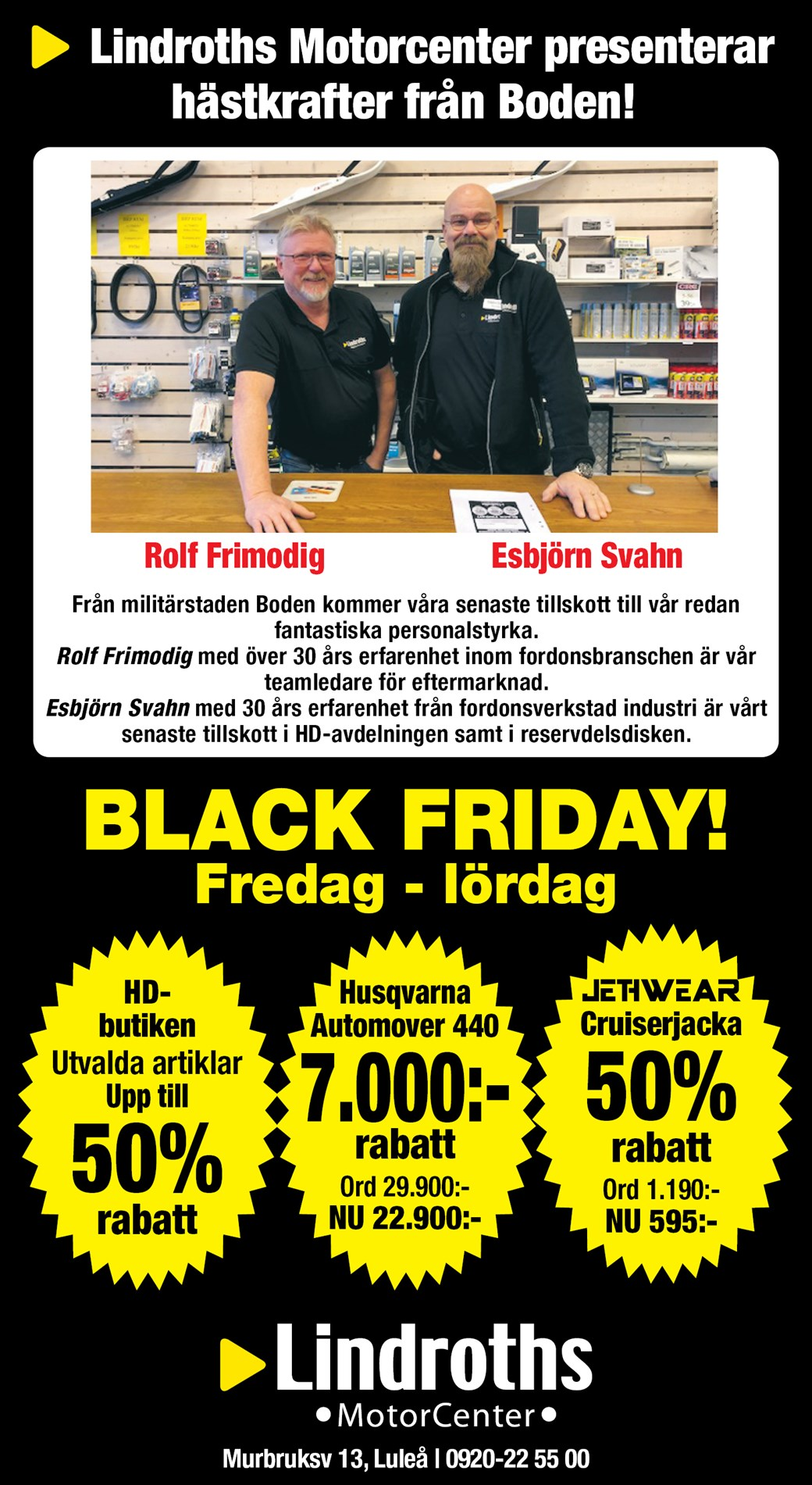 Black Friday! Fre-Lör